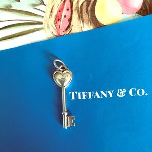 AUTHENTIC Tiffany & Co. Heart-Key Charm.